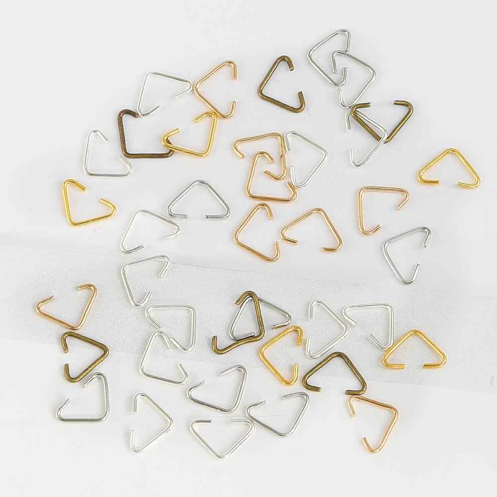20-100 個 6 × 10 ミリメートル金属鉄の三角形クラスプバックル Diy のイヤリングブレスレットネックレスジュエリーメイキングアクセサリー