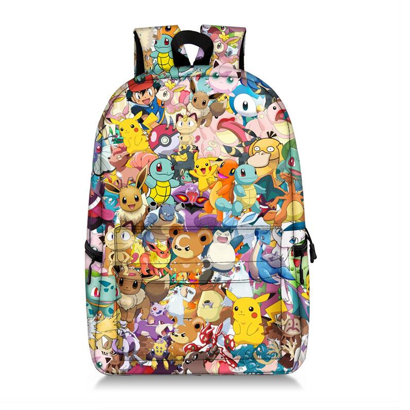 Cartoon Pokemon Super Mario Bros Backpack For Teenager Girls Laptop Mochilas Feminina Student School Backpack Women Travel Bags