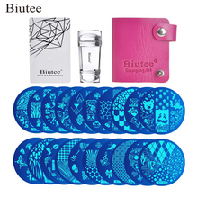 Biutee 30pcs/Set Nail Art Stamping Plates Set Geometric Flowers Multi-pattern Nail Plates Stamp Art Decoration Nail Accessories недорого