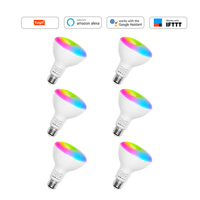 6 Pack Smart Wifi Light Bulbs Dimmable LED Light Bulbs  E26 720 Lumen 9W (80W Equivalent)  Works with Alexa  Google Assistant  I|Home Automation Modules| |  -