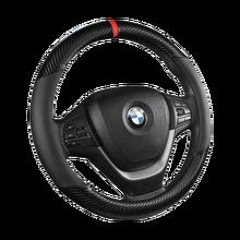 38CM PU de fibra de carbono protector para volante de coche para BMW X1 X2 X3 X4 X5 X6 X7 e39 e36 e46 e53 e60 e63 e82 e87 e90 e91