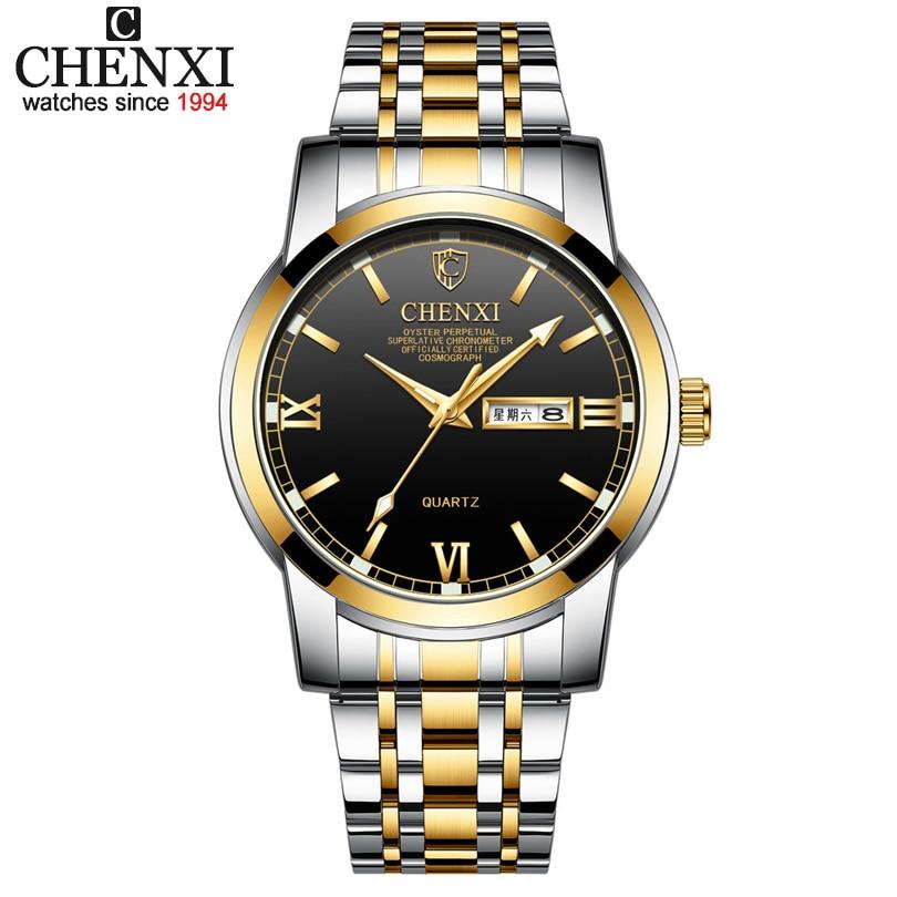 2020 CHENXI Watches Men Analog Quartz Wrist Watch Men's Waterproof Luminous Pointer Clock Date Week Display Relogio Masculino