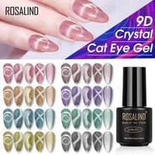 ROSALIND 9D Katze Auge Nägel Gel Polnisch Mit Magnetische Stick Kristall Semi Permanent Tränken Weg Vom Nagellack Für Maniküre Nagel design