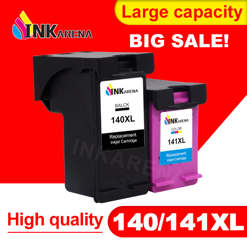 INKARENA Refilled Ink Cartridge Replacement for <font><b>HP</b></font> <font><b>140</b></font> <font><b>141</b></font> for Photosmart C4283 C4583 C4483 C5283 D5363 Deskjet D4263 Printer image