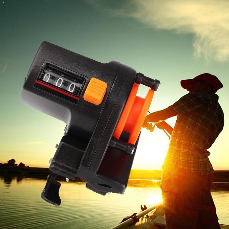 High Precision 0-999m Fishing Line Counter Reel Strong Finder Counter Meter Display Abs Digital Plastic Gauge Fishing Depth B2F8