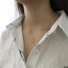 DAIWUJAN 925 Sterling Silver Gold Choker Necklace For Women Geometric Irregular Exquisite Pendant Necklace For Charms Jewelry exquisite geometric colored faux gemstone pendant necklace for women