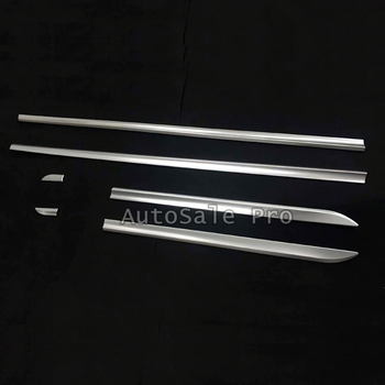 (Only Fit For European Car Model) Side Panel Door Body Molding Trim Protector 6pcs ABS Matte For Porsche Cayenne 2018 2019