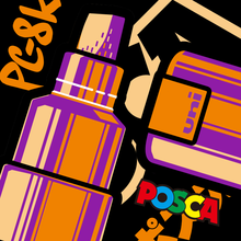1pcs Uni Posca PC-8K Paint Marker- Extra Fine Bullet Tip 8mm Art Marker Pens Water-Based 15 Colors Available