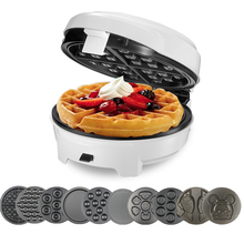лучшая цена Home DIY Waffle Maker Multi-function Egg Roll Cake Muffin Waffle Maker Egg Machine Electric Baking Pan Automatic 10pcs mold