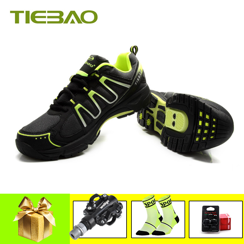 Best Offers TIEBAO sapatilha ciclismo mtb leisure cycling shoes chaussures vtt homme 2019 men women self-locking breathable spd pedals shoes 33010796212