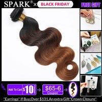 Spark Hair Ombre Brazilian Body Wave Hair 1/3/4 Bundles 100% Human Hair Weave Bundles Medium Ratio 100% Remy humanHair Extension