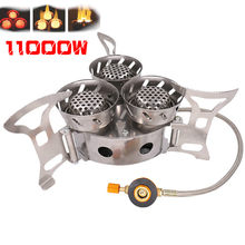 Windproof Mini Gas Burner Camping Stove Outdoor Cookware Lighter Portable Strong Fire Tourist Burner Stove Cooker Equipment