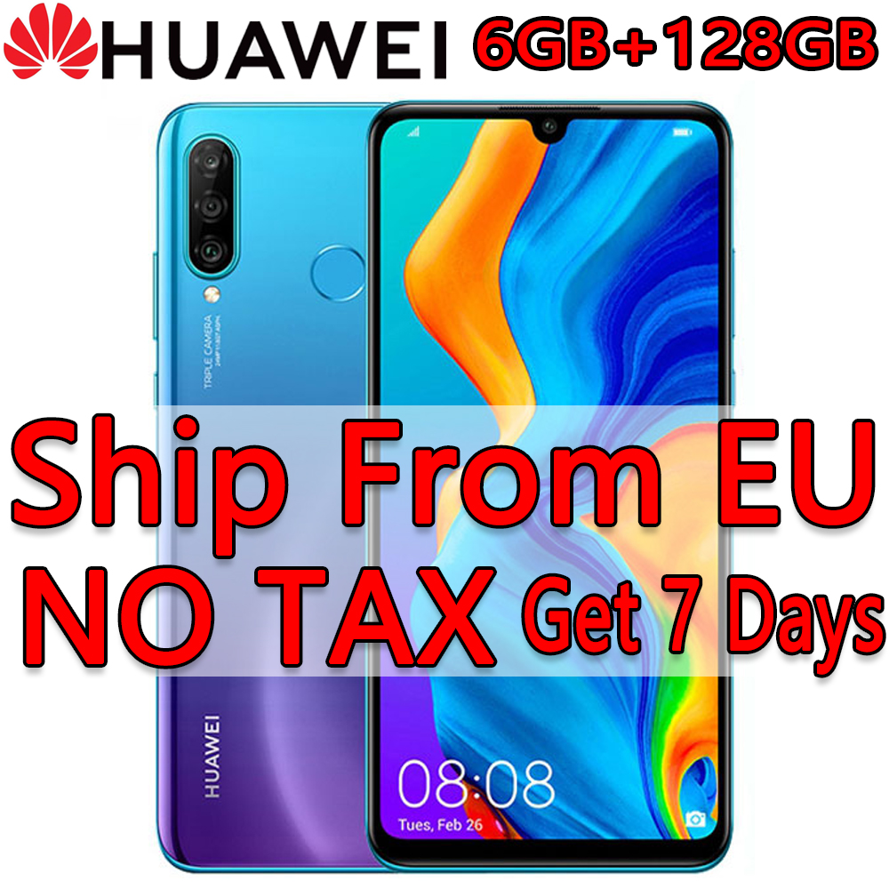 Spain In stock HUAWEI P30 Lite 6GB 128GB Smartphone 6.15 inch Kirin 710 Octa Core Mobile Phone Android 9.0 CellPhone EU Version