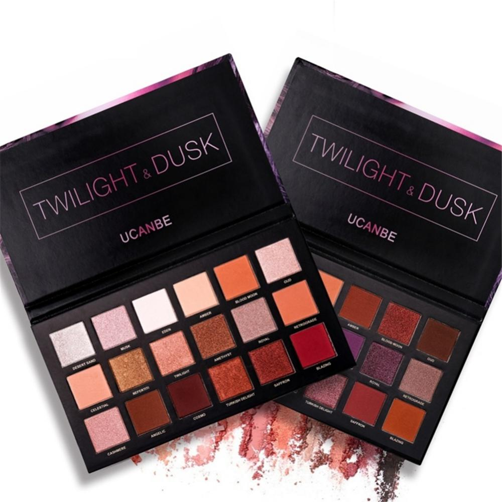<font><b>18</b></font> Color Shimmer And Matte Eyeshadow Palette Highly Pigmented Warm Color Long-lasting Cosmetics image