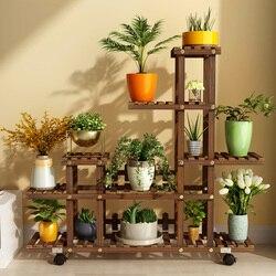 Kwiat  półka  lite drewno  multi floor  kryty  balkon  salon  użytkowanie w domu  cena promocyjna  zielony ananas  półka w Półki dla roślin od Meble na