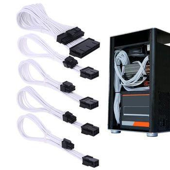 Sleeve Extension Power Supply Cable 24-pin A TX 8-pin PCI-E 8pin CPU 6-pin 4-Pin