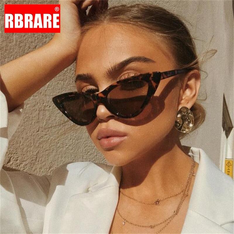 RBRARE Cat Eye Sunglasses Women 2019 Luxury Brand Retro Triangular Cateye Glasses For Women Vintage Oculos Feminino Sunglasses