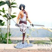 Attaque sur Titan Mikasa Ackerman Anime figurine Petit Chara Land Mikasa Ackerman PVC 25cm Collection modèle poupée jouets