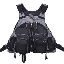 Men's Fishing Vest Adjustable Mesh Vest With Multi-Pocket Outdoor Fly Fishing Vest Pack цена 2017