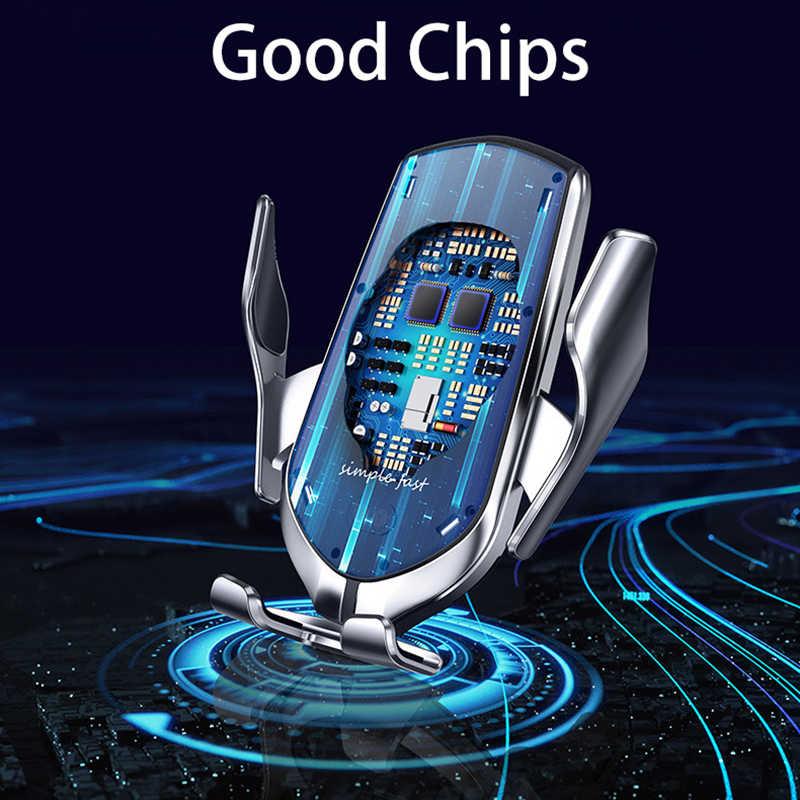 Automatische Schnelle Drahtlose Ladegerät Auto Halterung QI für iPhone 8 11 X XS MAX Auto Drahtlose Ladestation für Samsung s10 Xiao MI 9