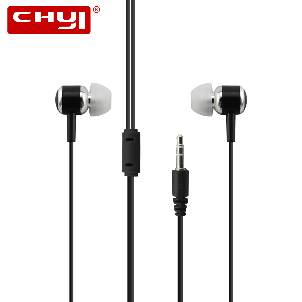 High Quality Wired Earphone Brand Subwoofer Metal In-ear Earphones New Stereo In-Ear 3.5mm Cable Earphone For Laptop Smartphone image