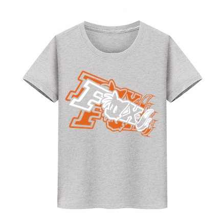 소년 소녀 비치 서핑 티 틴 에이저 스트리트 캐주얼 티셔츠 어린이 스케이트 보드 티셔츠 두 꼬리 폭스 프린트 티셔츠 아이 티셔츠