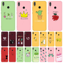 Candy Color TPU Case For Huawei Honor 20 9X Pro 8X 10i 20i Soft Silicone Cover For Honor 9 10 20 Lite Green Cactus Giraffe Cases(China)