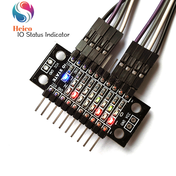 8-digit LED Light Row I/O State Indicator Board For GPIO