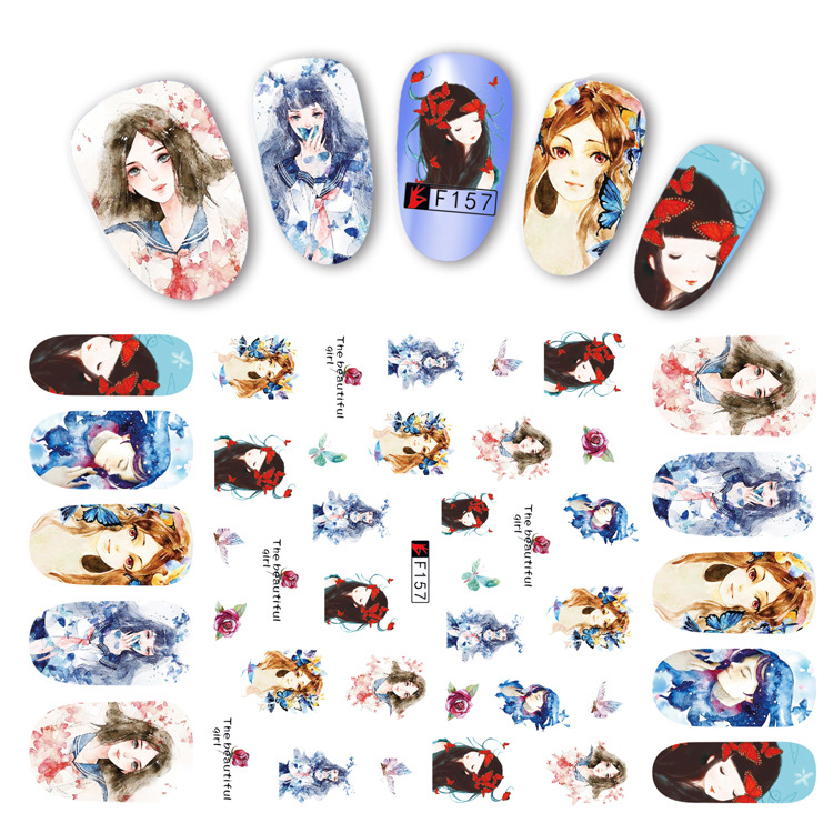 3D Stick Completely Manicure Flower Stickers Harajuku Personnel Nail Sticker DIY Nail Sticker Paper Sticker