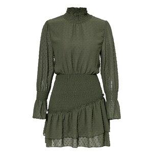 Image 5 - Eleganckie zimowe sukienki Polka Dot damskie Retro eleganckie sukienki w stylu casual, imprezowa krótkie sukienki w pasie femme sukienka Vestido
