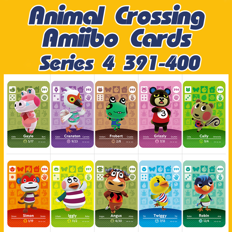 Animal Crossing New Horizons Amiibo Card Sanrio Set For NS Switch 3DS Game Lobo Card Set Series 4 (391-400)