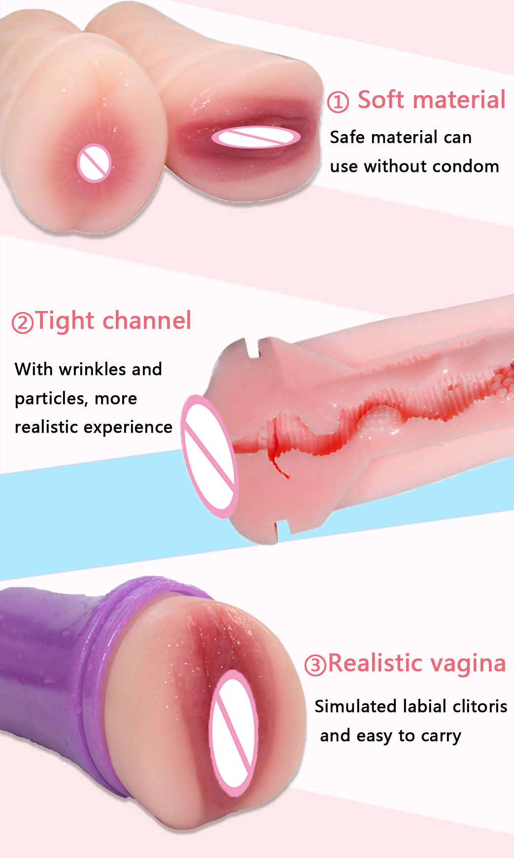 MRL Silicon Sex Toys for Men Pocket Pussy Real Vagina