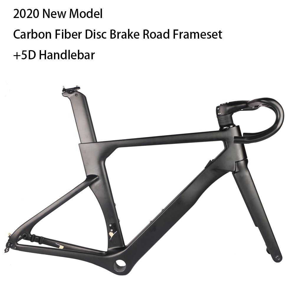 2020 Model AEROSIX Carbon Disc Road Frame Disc Brake Bicycle Frame Fork Seatpost With 5D Carbon Handlebar