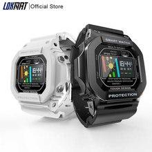 LOKMAT Bluetooth Smart Uhr Frauen Männer IP68 Wasserdichte Farbe Touch Heart Rate Monitor digitale SmartWatch Für Android ios