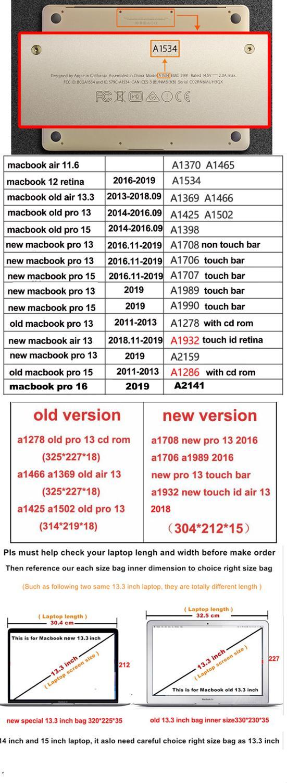 Portable Handbag Sleeve Case for Laptop 11 13 14 15.6,Notebook Bag For MacBook Air Pro 11.6 13.3,Drop Shipping