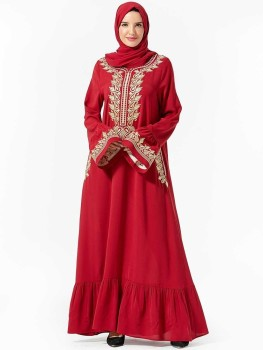 Muslim Evening Dress Moroccan Style Vestidos Musulmanes Turkish Abayas