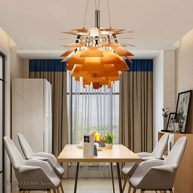 Lámpara Led moderna con forma de pipecón para sala de estar, cocina, Loft, luminaria de decoración Industrial para el hogar