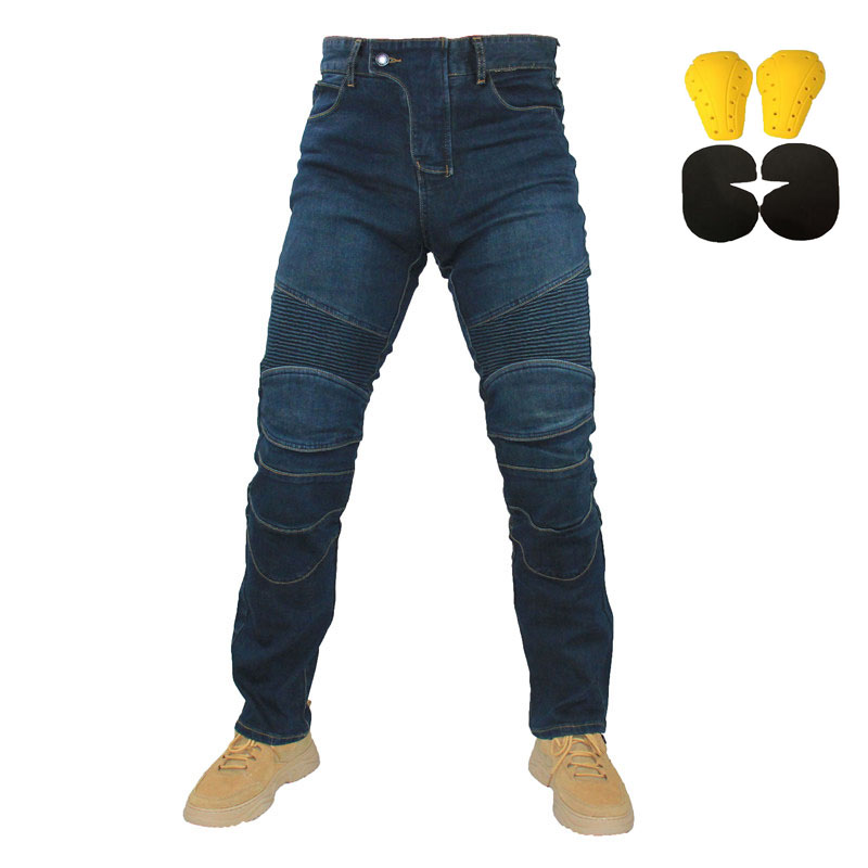 Komine Embroidery Motorcycle Leisure Motorcycle Men s Outdoor Summer Riding Jeans Motorpoof Jeans With Protect Gears