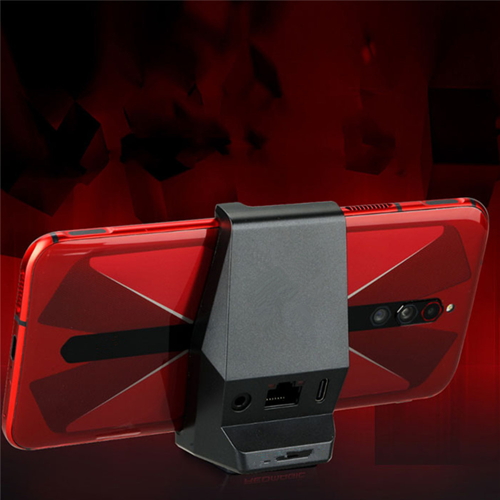 2 In 1 For Nubia Red Magic 5G Mobile Phone Gaming Box Expansion Dock 3.5mm Type-C Phone Holder For Nubia Red Magic 5G Accessory