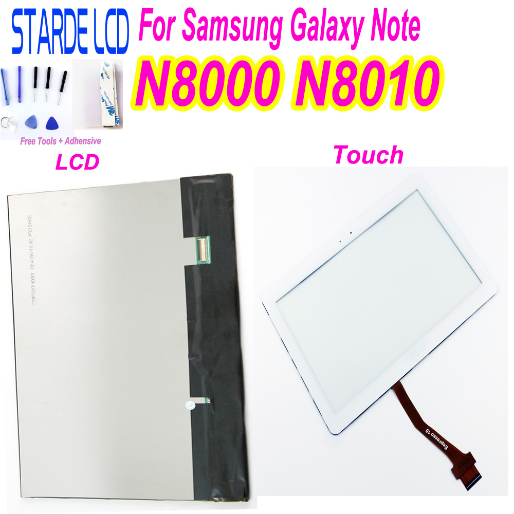 GT-N8000 LCD For Samsung Galaxy Note GT-N8000 N8000 N8010 LCD Display+Touch Screen Digitizer Glass Panel Replacement With Tools