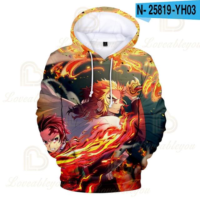 Купить аниме толстовка steetwear demon slayer kamado nezuko костюмы картинки цена