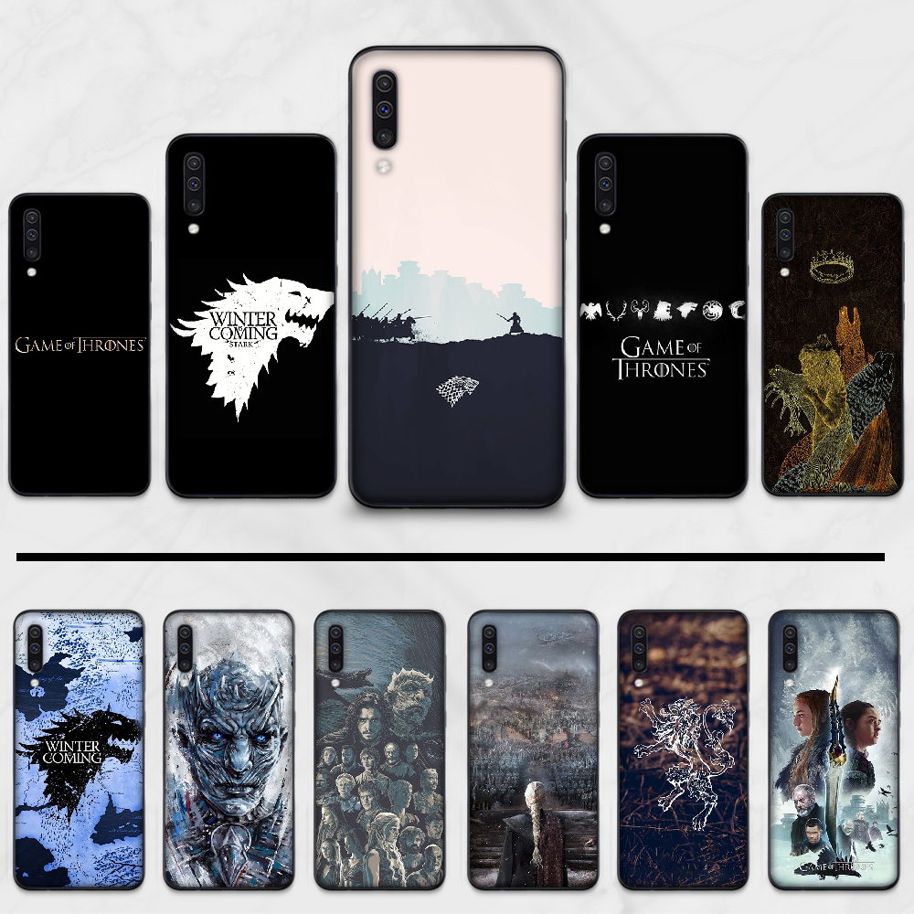 Game of Thrones Wolf dragon DIY Painted Bling Phone Case For Samsung S6 S7 edge S8 S9 S10 e plus A10 A50 A70 note8 J7 2017 image