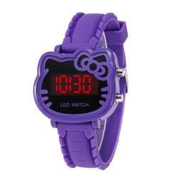 Детский мультфильм Helllo Кетти светодиодный часы модные студенческие девочек светодиодный часы KT наручные часы с котом