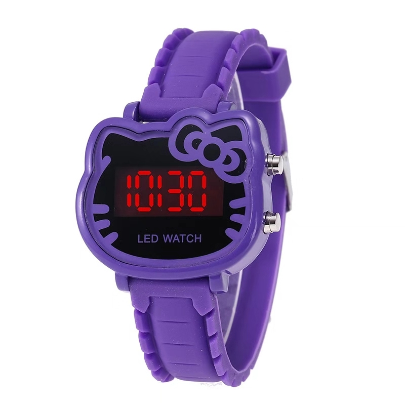 Children's Cartoon Helllo Ketty LED Watch Fashion Student Girls'LED Watch KT Cat Watch