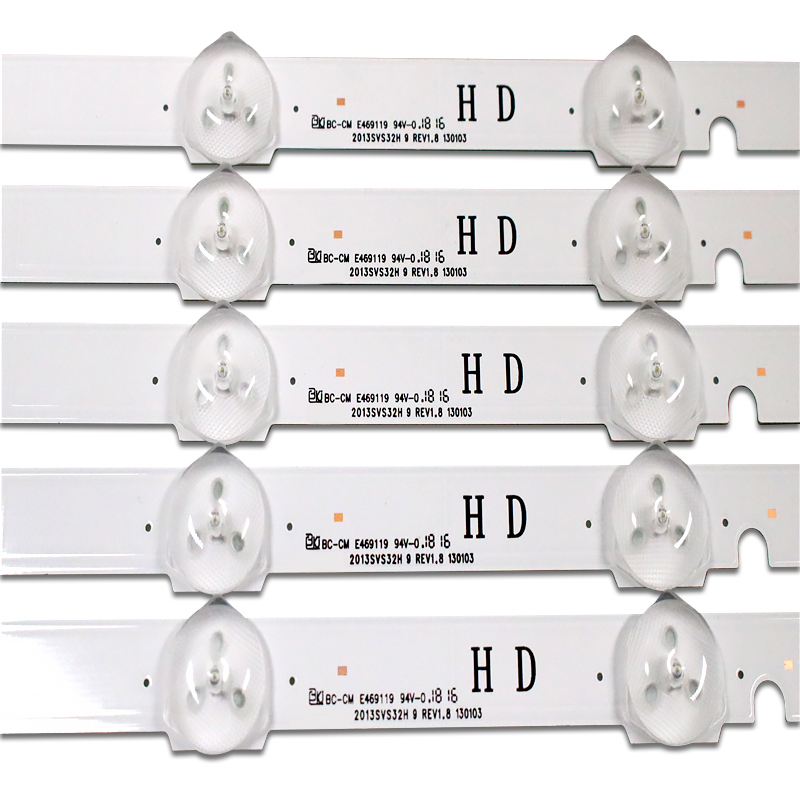 FOR Samsung UA32F4088AR Backlight Sc0 D2GE-320-R3 2013SVS32H 9 REV1.8 650MM A Set Of 5PCS. Each Of The 9 Lamp Beads