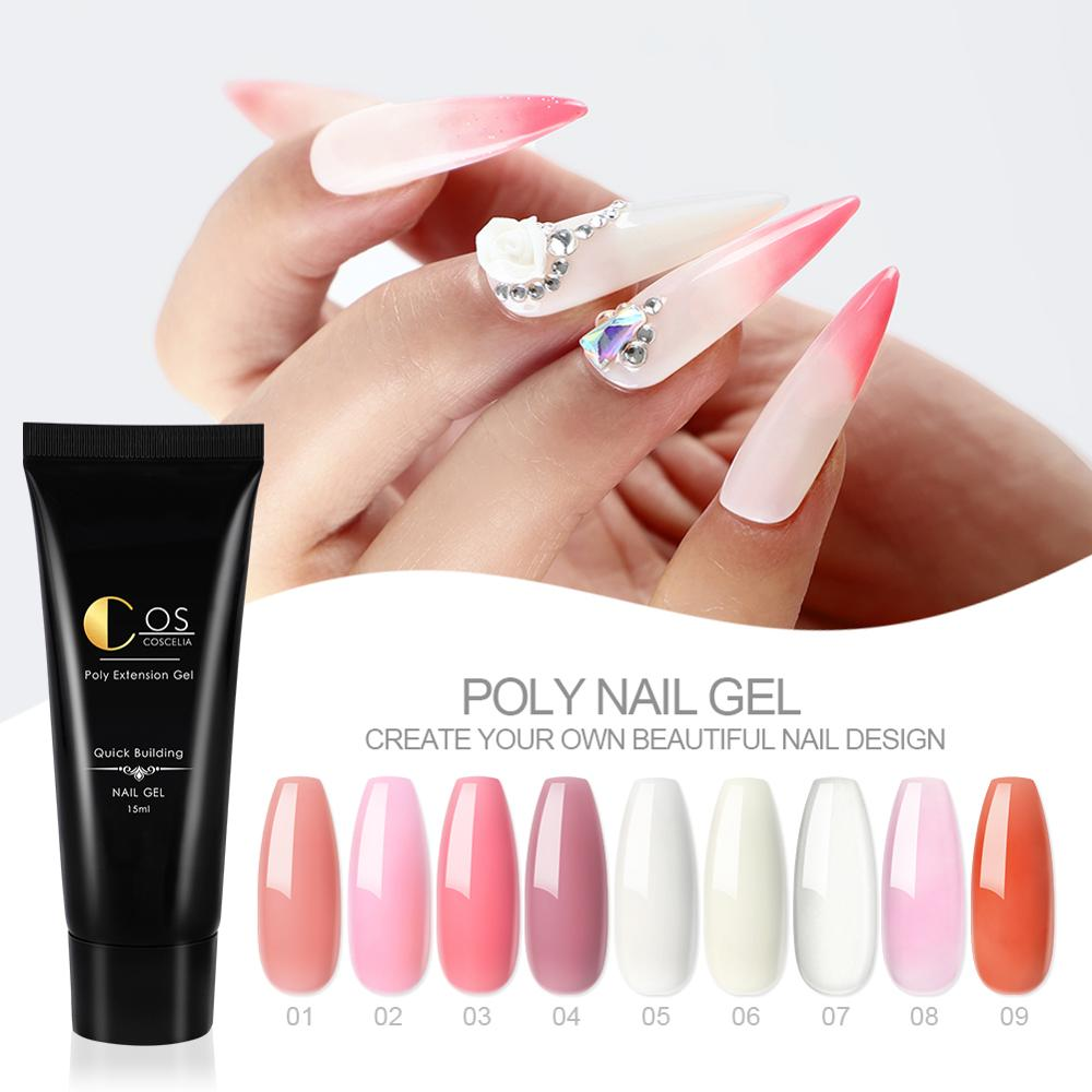 COSCELIA Poly Gel Nail Kit With 36W Lamp All For Manicure For Nail Art Decorations Nail Kit Manicure Tools Gel Varnishes Set 6