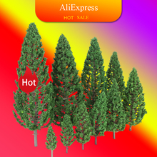 Ho Scale Plastic Miniature Model Trees For Building Trains Railroad Layout Scenery Landscape Accessories toys for Kids cheap CN(Origin) 1 100 Buildings 3 years old 22pcs Model Trees Unisex 25-160mm