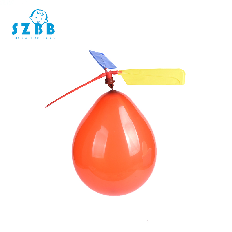 SZ STEAM Balloon Helicopter Toys Balloon Aircraft Propeller Kids Traditional Classic Flying Toys Fun Toy Airplane Plaything