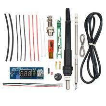 Elektrische Einheit Digitale Lötkolben Station Temperatur Controller Kits für HAKKO T12 Griff DIY kits w/LED vibration schalter