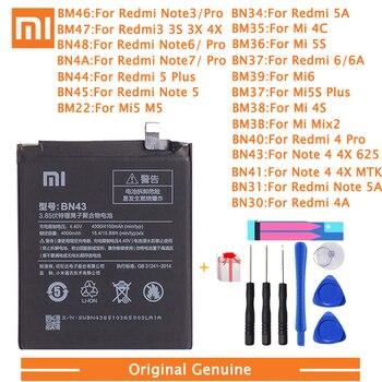 Xiao Mi Original Phone Battery For Xiaomi Redmi 3 Pro 3S 3X Note 4 4X 4A 5A 6 6A 7 Mi 5 6 4S Mi 2 5S Plus Replacement batteries xiao mi original phone battery for xiaomi redmi 3 pro 3s 3x note 4 4x 4a 5a 6 6a 7 mi 5 6 4s mi 2 5s plus replacement batteries